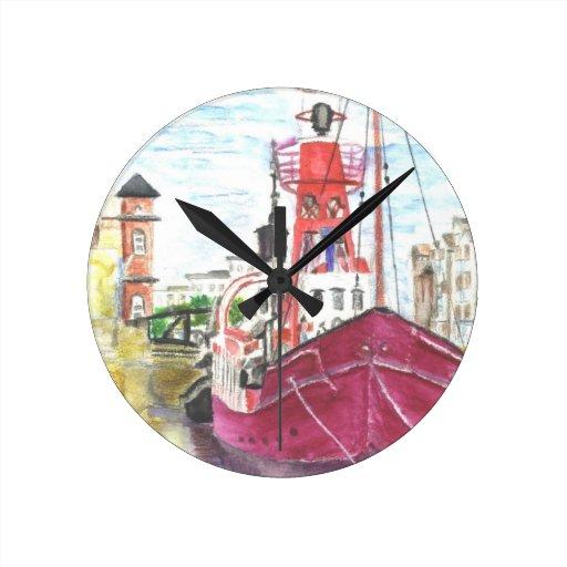 Helwick Tug Boat Swansea Wall Clock