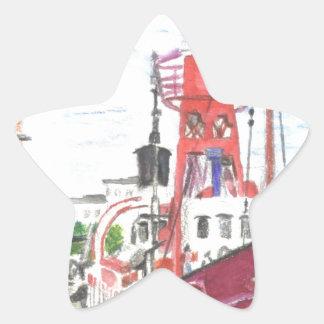 Helwick Tug Boat Swansea Star Sticker