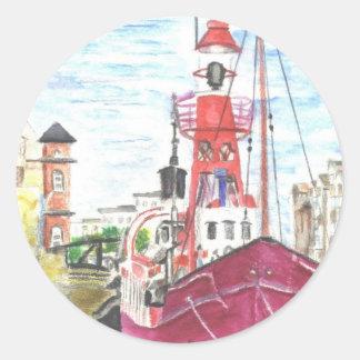 Helwick Tug Boat Swansea Round Sticker