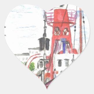 Helwick Tug Boat Swansea Heart Sticker
