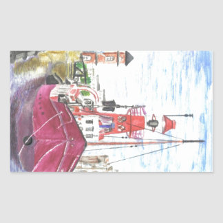 Helwick Tug Boat Swansea Rectangle Sticker