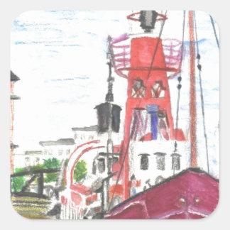 Helwick Tug Boat Swansea Square Sticker