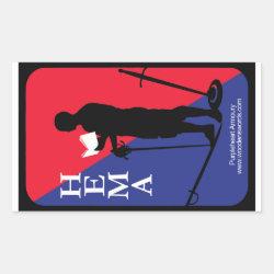 HEMAist decal Rectangular Sticker