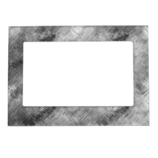 Hematite Grey Scribbled Texture Magnetic Picture Frame