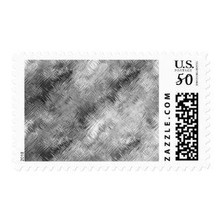 Hematite Grey Scribbled Texture Postage