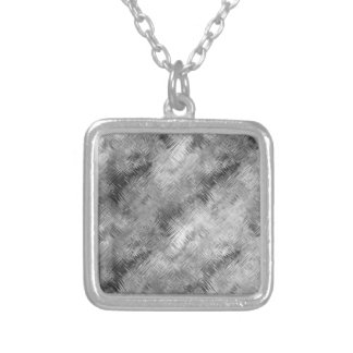 Hematite Grey Scribbled Texture Silver Plated Necklace