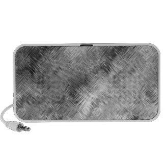 Hematite Grey Scribbled Texture iPod Speakers