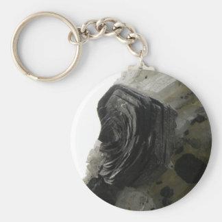 Hematite Iron Rose Keychain