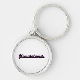 Hematologist Classic Job Design Silver-Colored Round Keychain