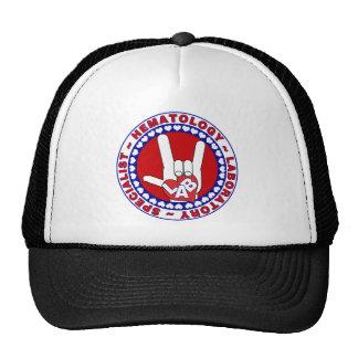 HEMATOLOGIST HEMATOLOGY SPECIALIST LOGO ROUND TRUCKER HAT