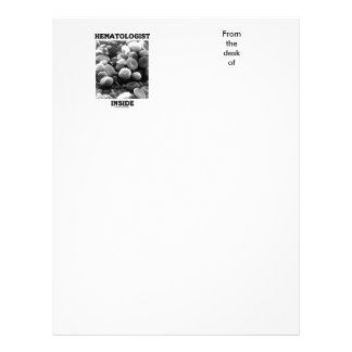 Hematologist Inside (Blood Cells) Letterhead