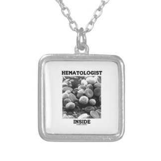 Hematologist Inside (Blood Cells) Square Pendant Necklace