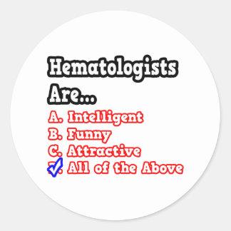Hematologist Quiz...Joke Stickers