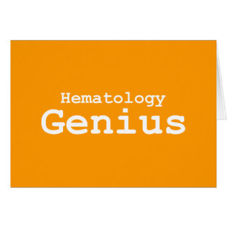 Hematology Genius Gifts Card