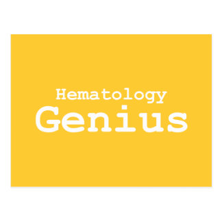 Hematology Genius Gifts Postcard