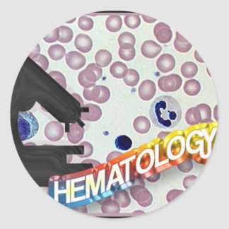 HEMATOLOGY - Medical Technology - Laboratory Classic Round Sticker