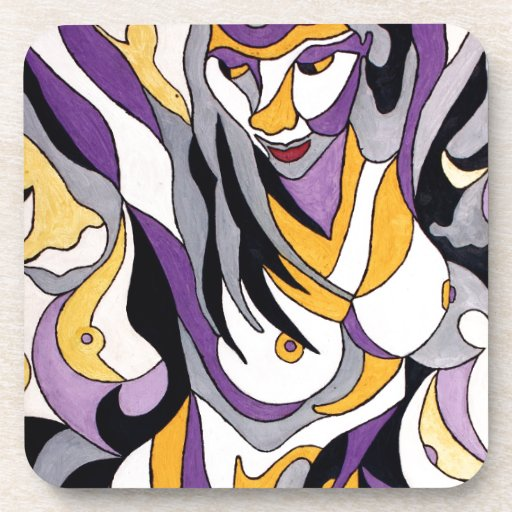 Hembra abstracta 7 posavasos