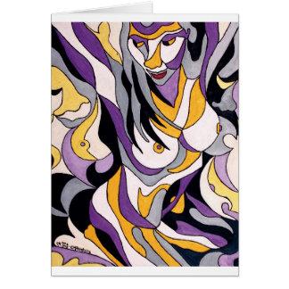 Hembra abstracta 7 tarjeta de felicitación