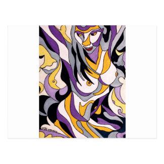 Hembra abstracta 7 tarjeta postal