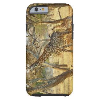 Hembra adulta y jirafa juvenil, Giraffa Funda De iPhone 6 Tough