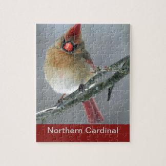 Hembra cardinal septentrional puzzle