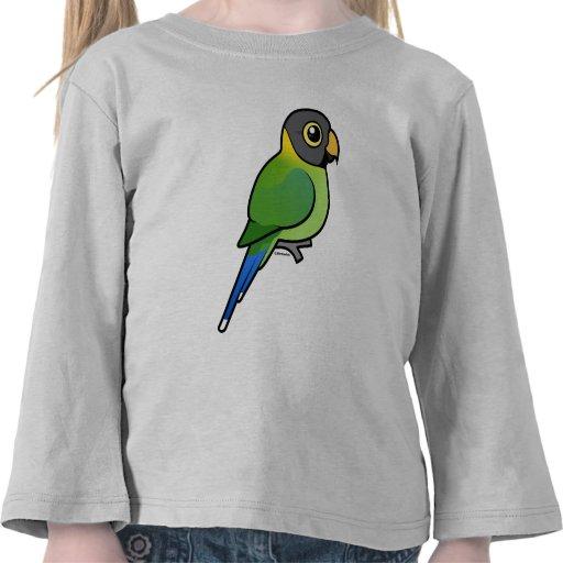 hembra Ciruelo-dirigida del Parakeet Camisetas