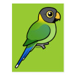hembra Ciruelo-dirigida del Parakeet Tarjeta Postal