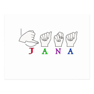 HEMBRA CONOCIDA DE LA MUESTRA DE JANA ASL TARJETAS POSTALES