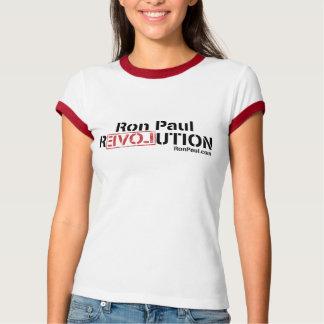 Hembra de la camiseta de la revolución de Ron Paul