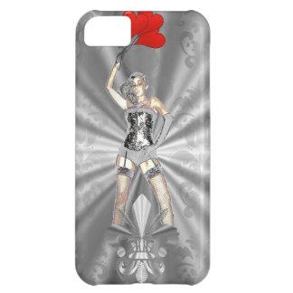 Hembra de plata funda para iPhone 5C