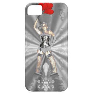 Hembra de plata funda para iPhone SE/5/5s