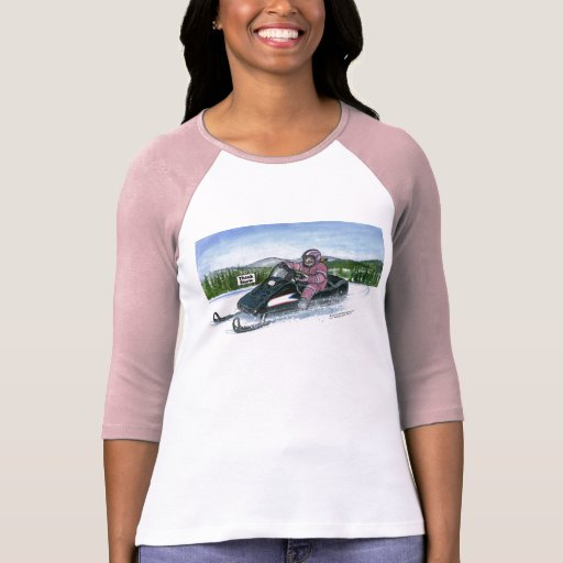 Hembra de Snowmobiler Camiseta