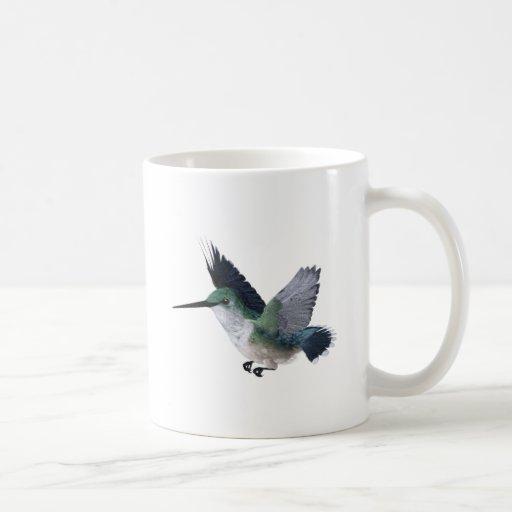 Hembra del colibrí de la abeja taza de café