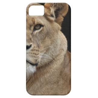 Hembra del león que se acuesta funda para iPhone 5 barely there