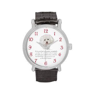 HEMBRA del recuerdo de Bichon Frise Reloj
