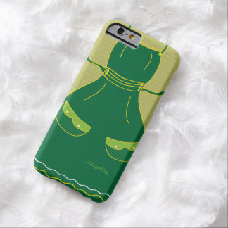 Hembra divertida del delantal del ama de casa funda barely there iPhone 6