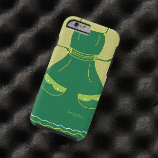 Hembra divertida del delantal del ama de casa funda resistente iPhone 6