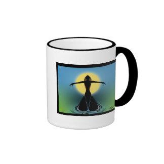 Hembra floreciente taza de dos colores