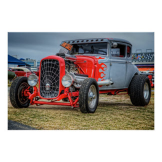Hemi Powered Hot Rod Poster