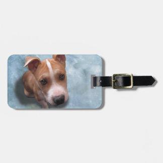 Hemi the Pit Bull Puppy Bag Tags