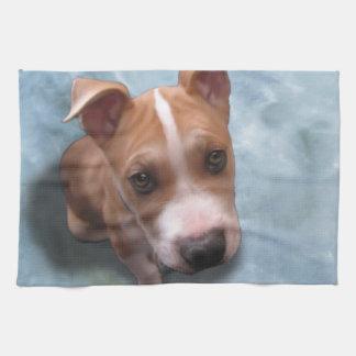Hemi the Pit Bull Puppy Kitchen Towel