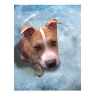 Hemi the Pit Bull Puppy Letterhead
