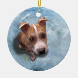 Hemi the Pit Bull Puppy Christmas Ornaments