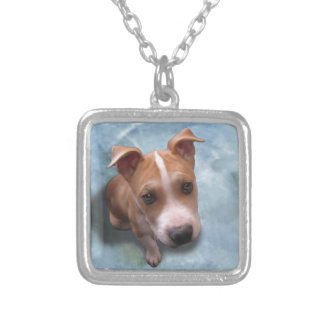 Hemi the Pit Bull Puppy Silver Plated Necklace