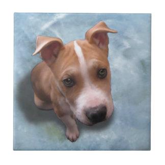 Hemi the Pit Bull Puppy Tile