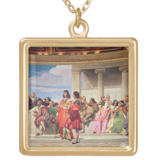 Hemicycle: Artists of All Ages, detail of left han Gold Plated Necklace