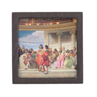 Hemicycle: Artists of All Ages, detail of left han Premium Keepsake Boxes