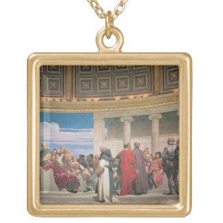 Hemicycle: Artists of All Ages, detail of the righ Gold Plated Necklace