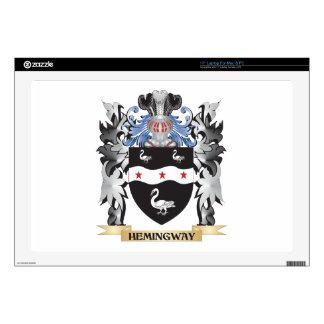 "Hemingway Coat of Arms - Family Crest 17"" Laptop Skins"