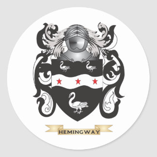Hemingway Coat of Arms (Family Crest) Classic Round Sticker